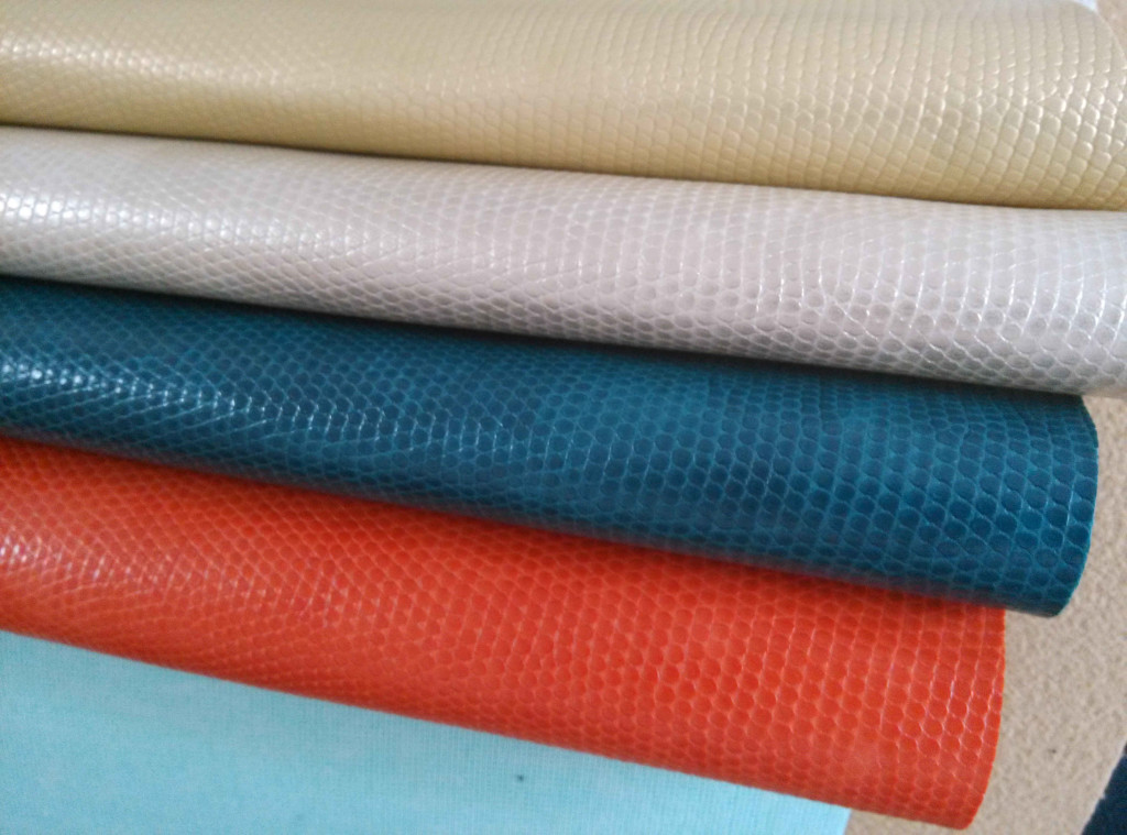 snake grain pu leather for furniture